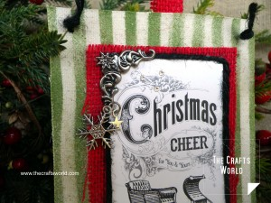 Christmas card pocket detail