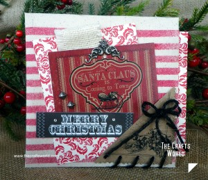 Christmas card pocket square