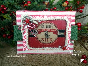 Christmas card pocket vertical