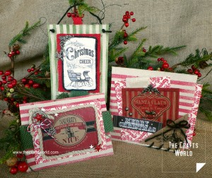 Christmas card and pockets