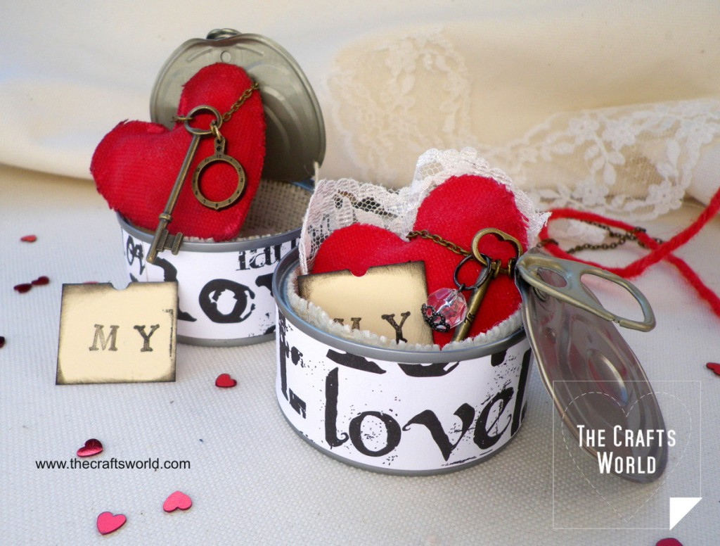 DIY Valentine's gift Heart in a tin