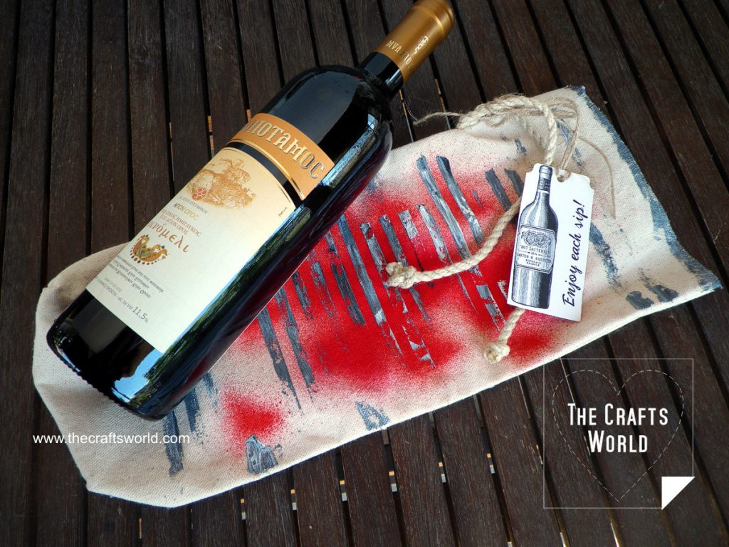 DIY wine bag