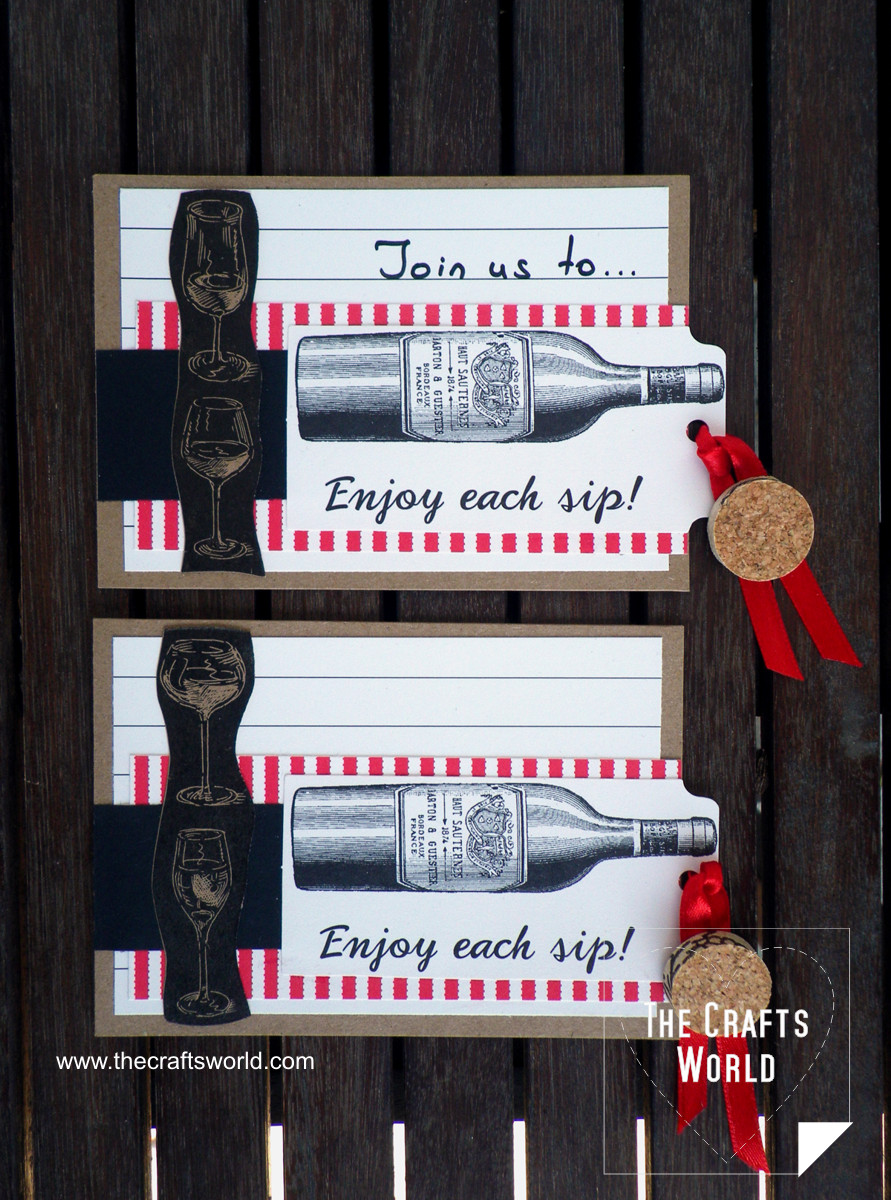 Invitation to a wine party cards