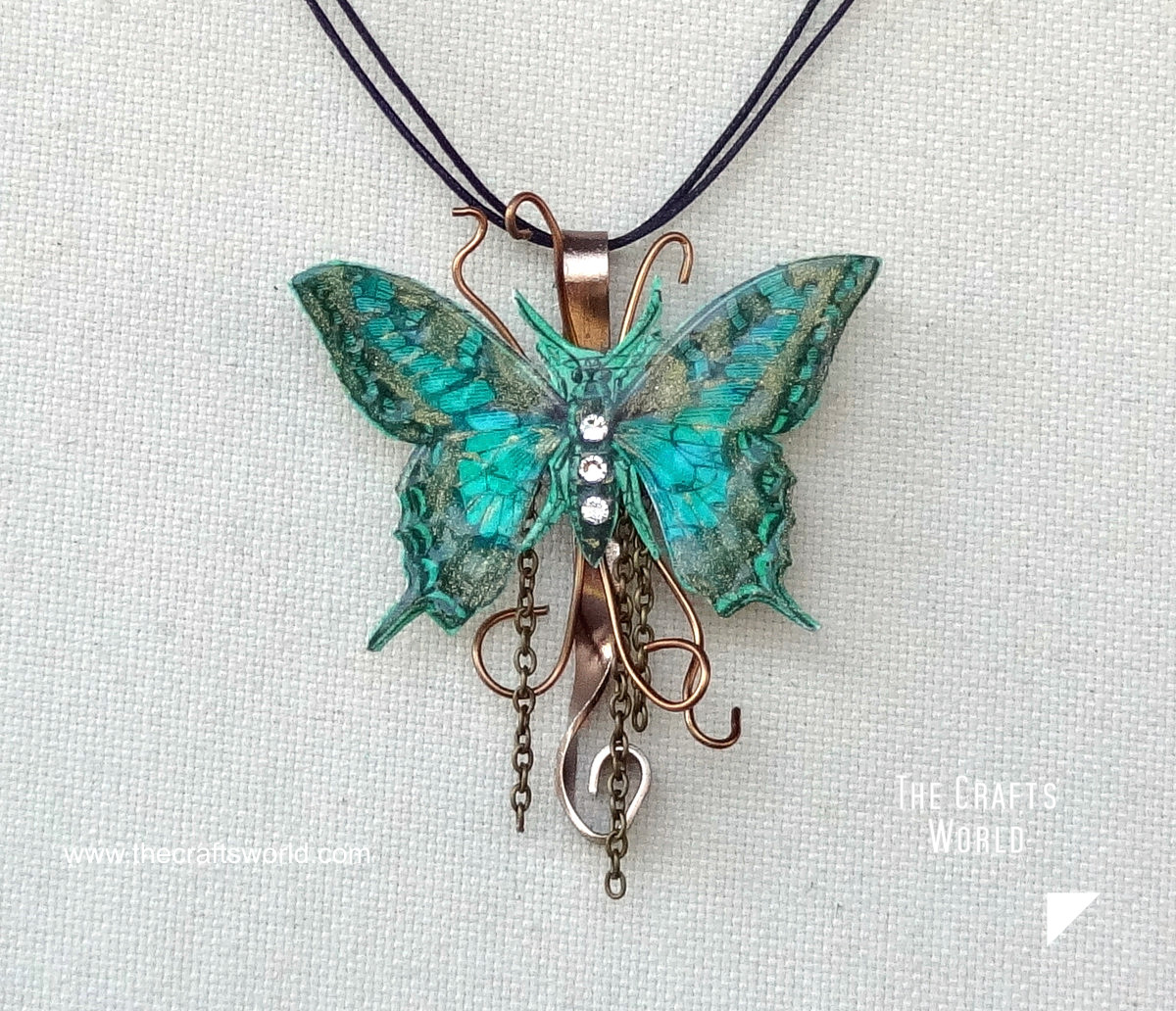 Butterfly pendant - close