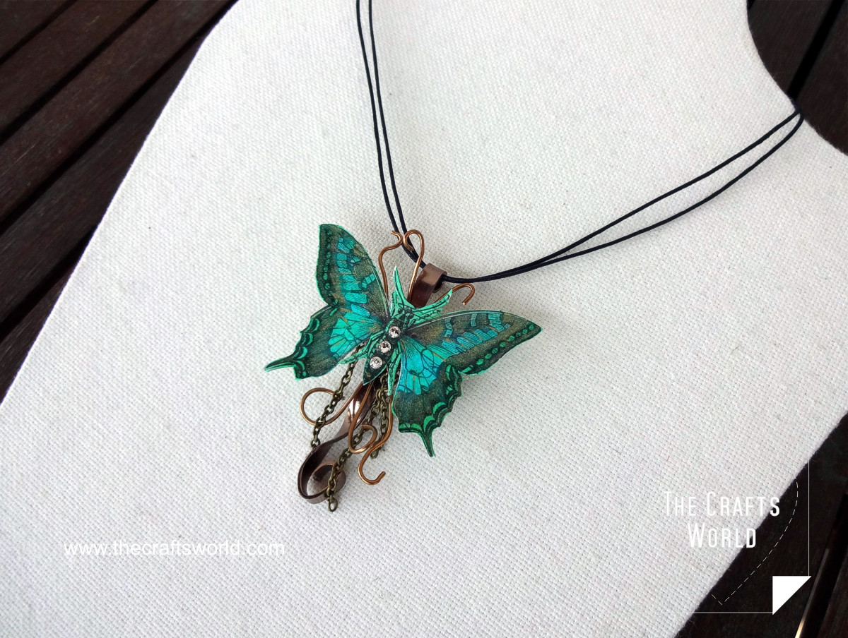 Butterfly pendant side