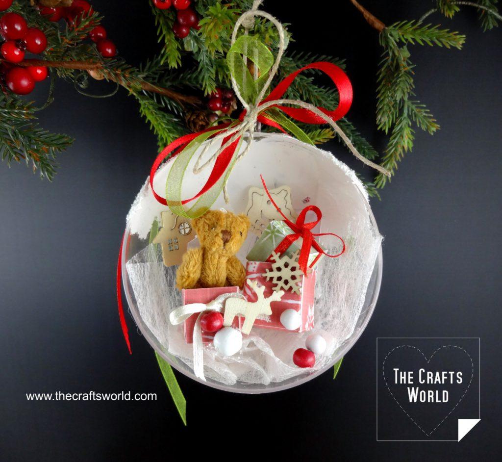 Christmas bauble with a tiny bear