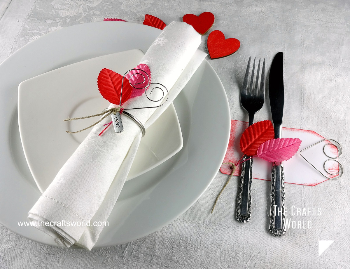 Valentine's day table decoration close