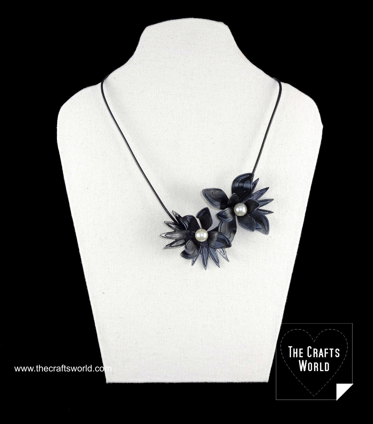Worbla flowers necklace