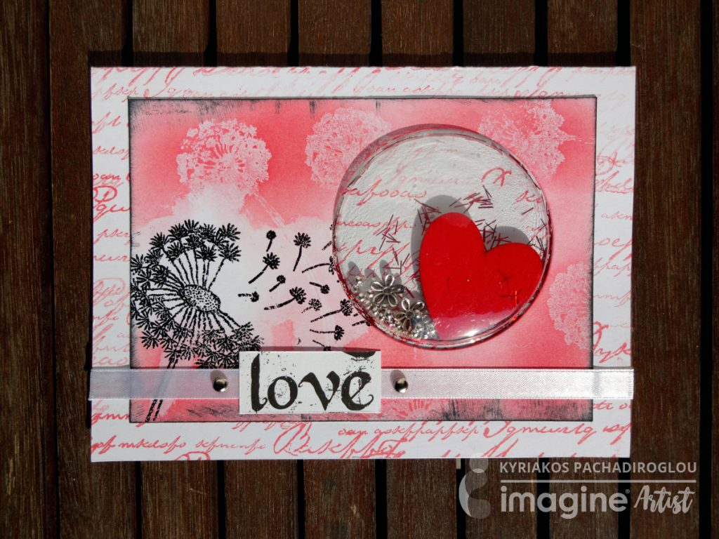 Shaker card - Pink Love
