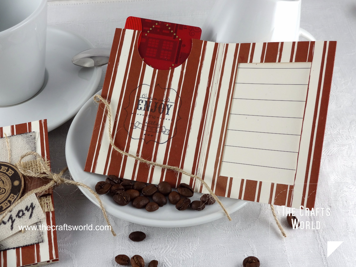 Coffee gift card holders detail