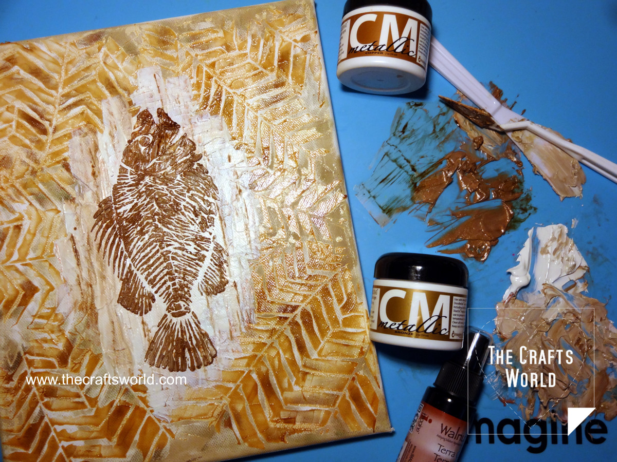 Fossil fish canvas 3