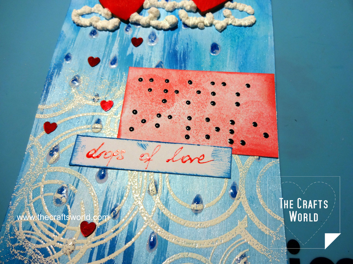 Braille greeting card - Drops of love 10