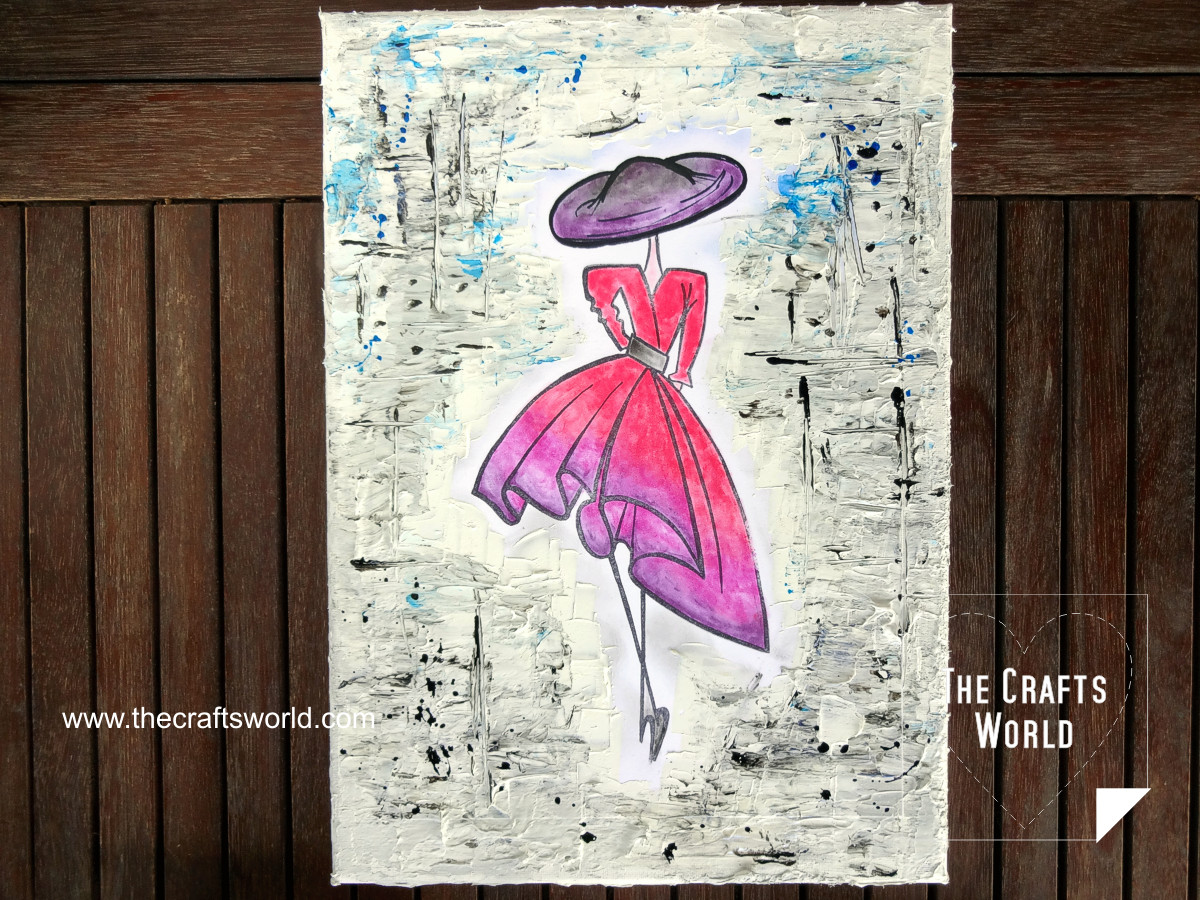 Dress sketch canvas