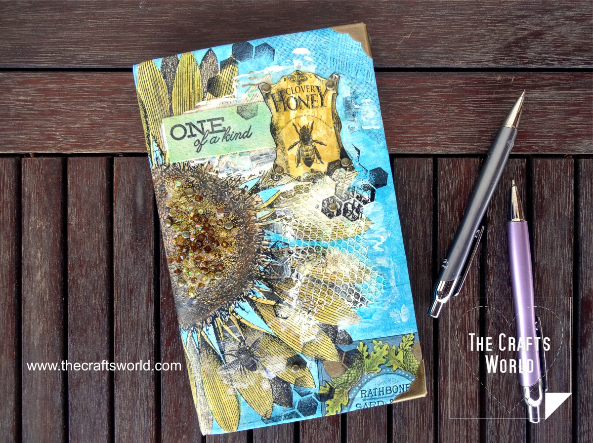 Sunflower canvas book cover