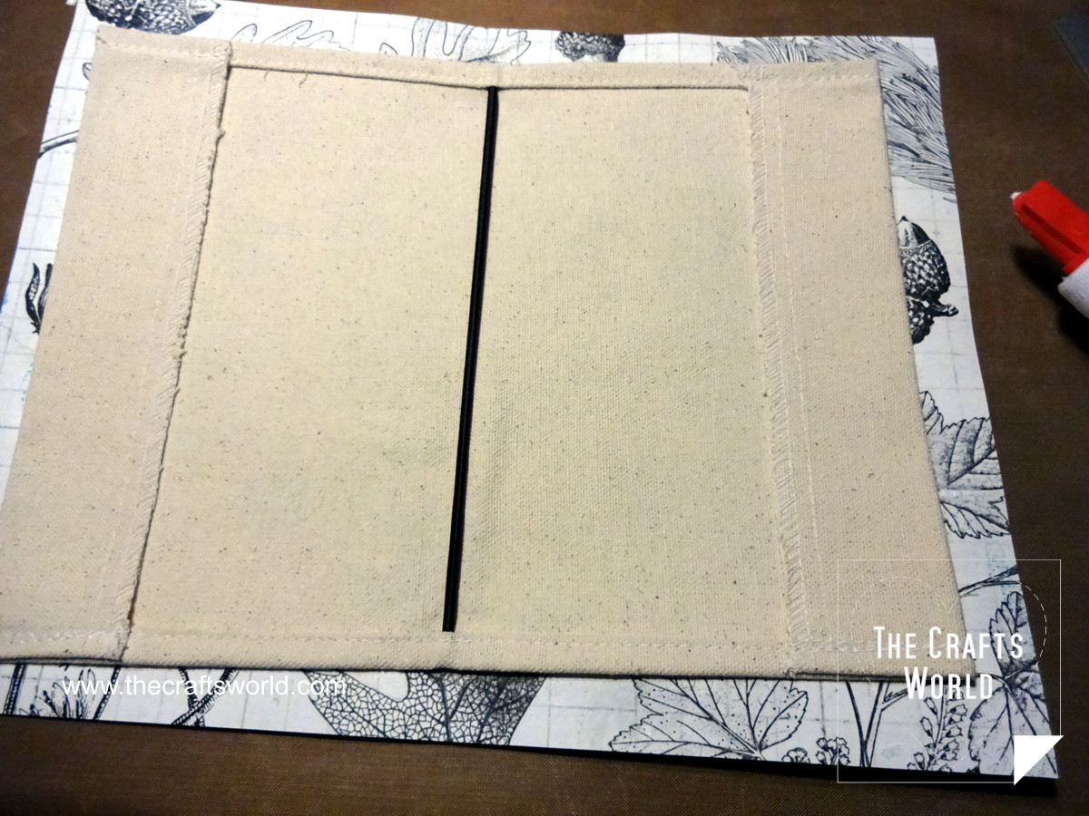 Sunflower canvas book cover 2