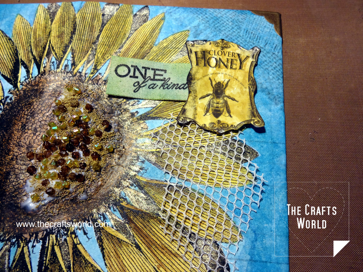 Sunflower canvas book cover 6