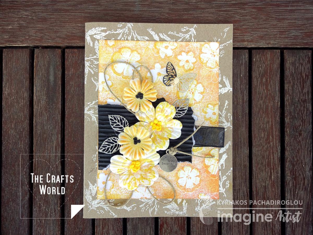 Yellow flowers handmade card
