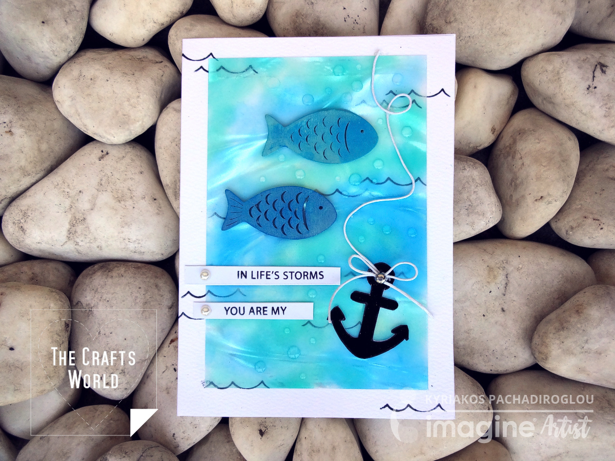 You are my anchor handmade card