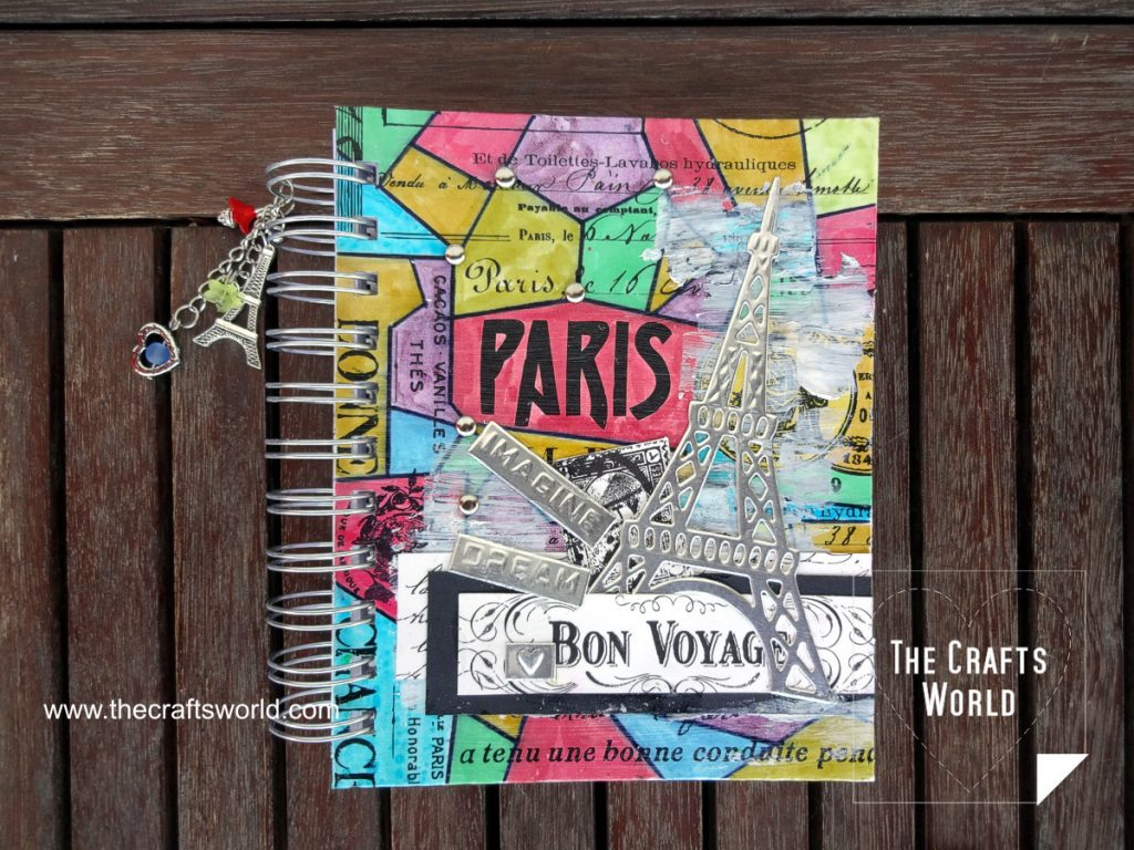 Colorful Paris - handmade notepad