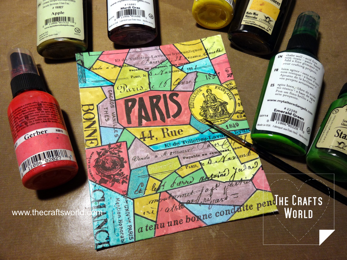 Colorful Paris - handmade notepad 3
