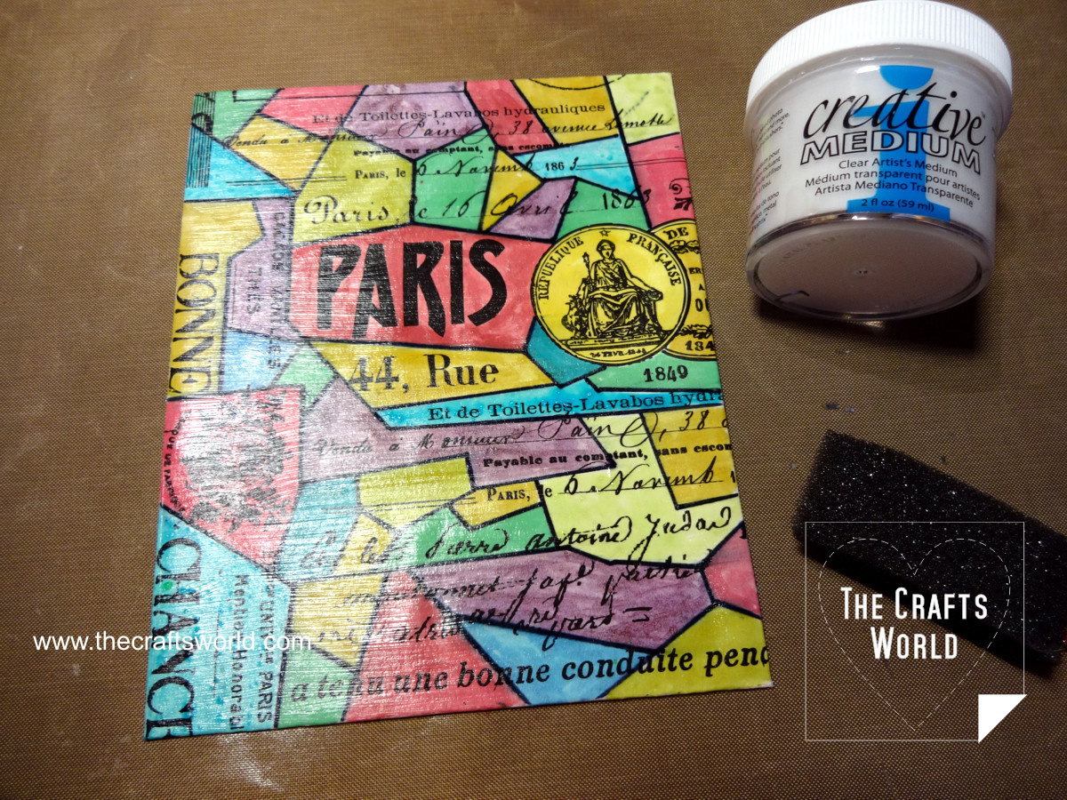Colorful Paris - handmade notepad 4