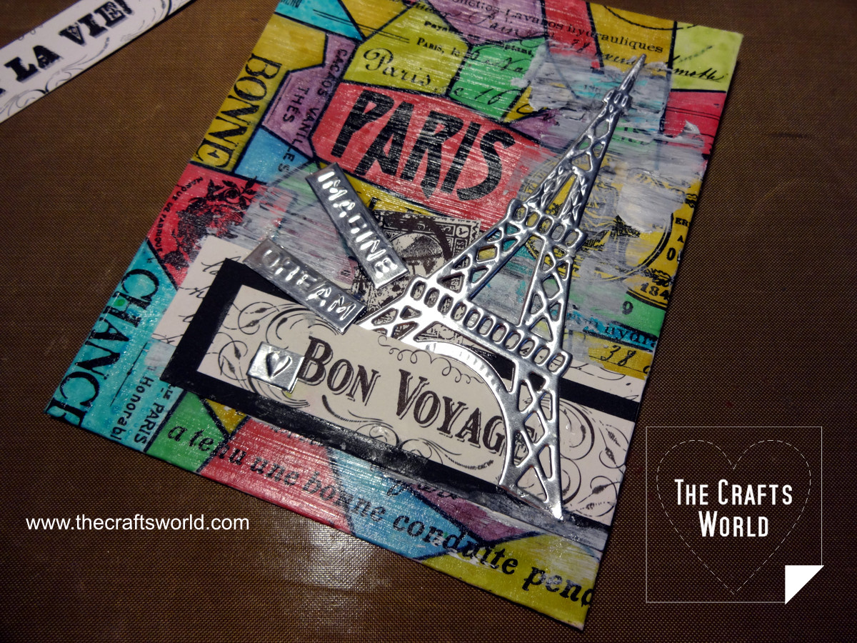 Colorful Paris - handmade notepad 5