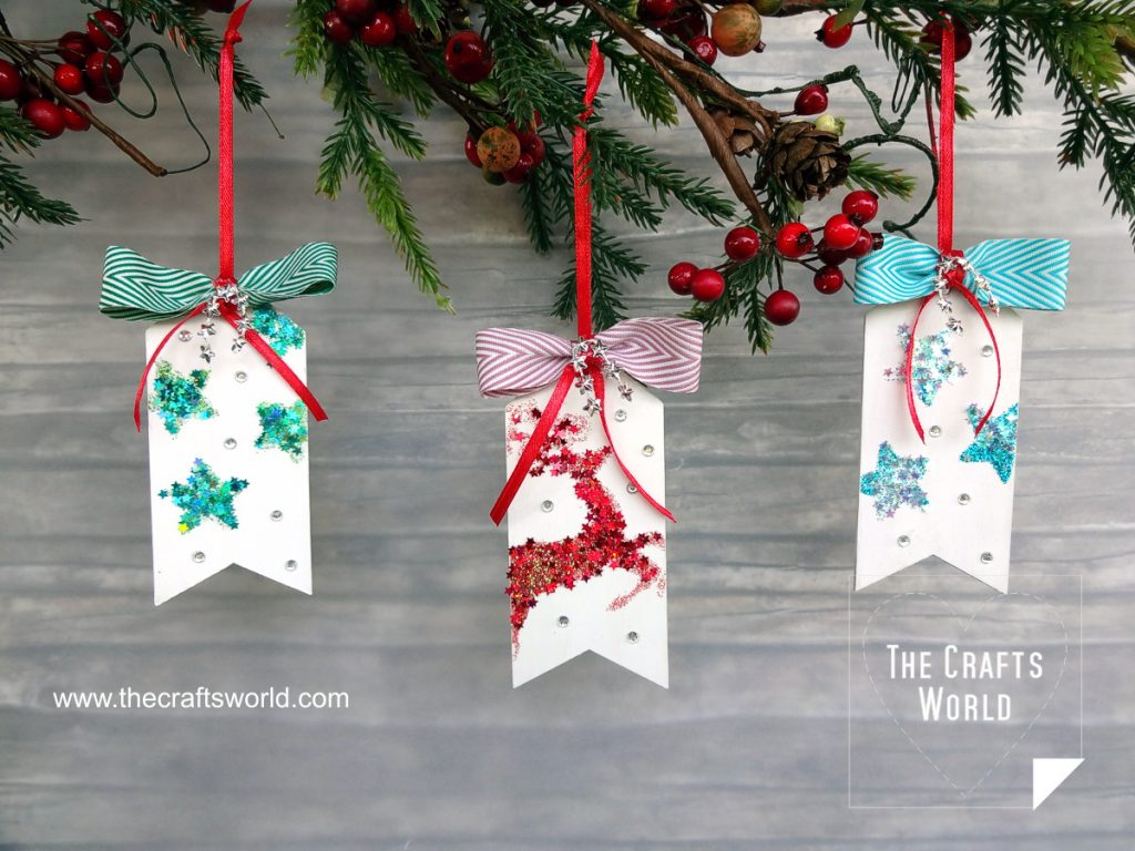 Christmas wooden tags