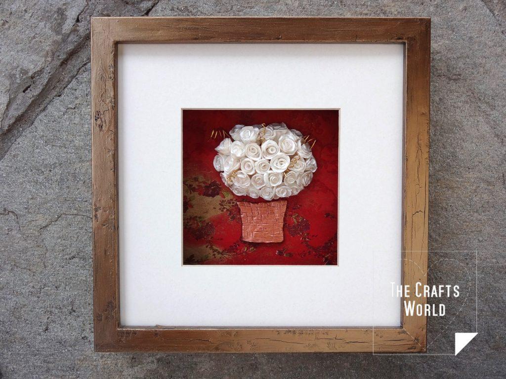 Κάδρο - Καλάθι με τριαντάφυλλα