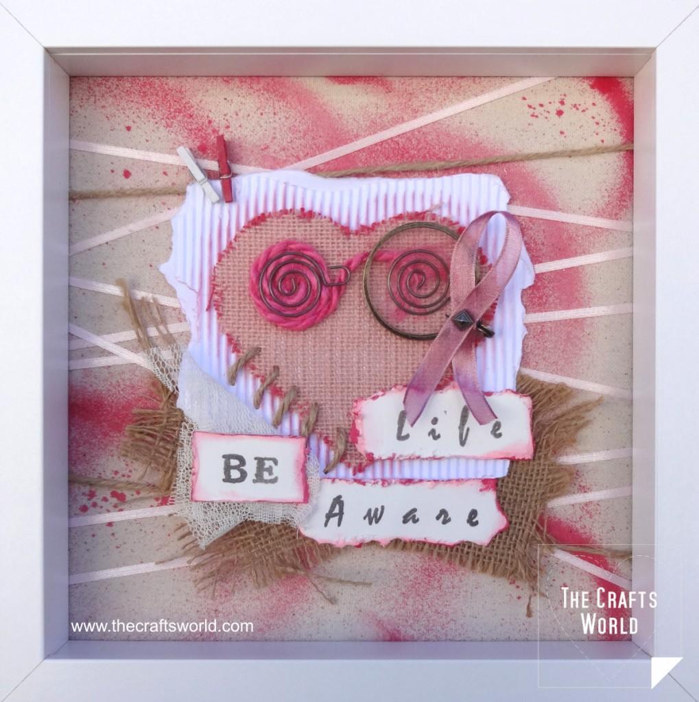 Shadow box - Breast cancer awareness