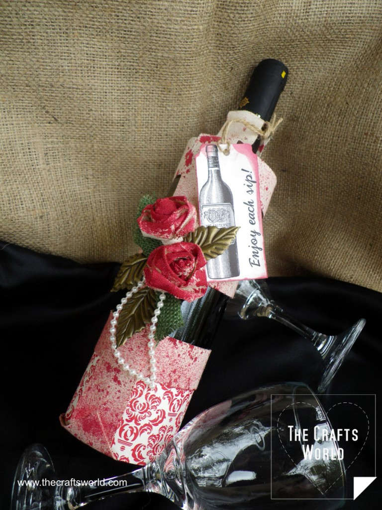 DIY wine bottle bag