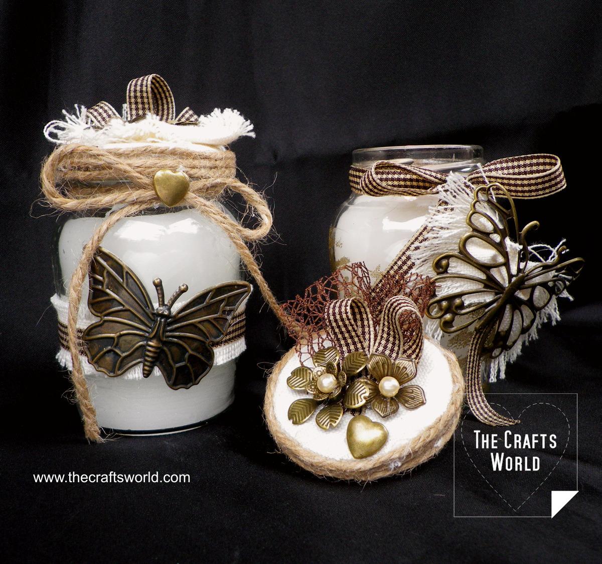 Vintage candle jars