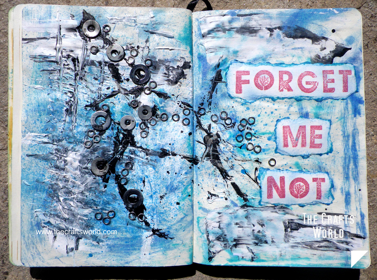 art journal forget me not