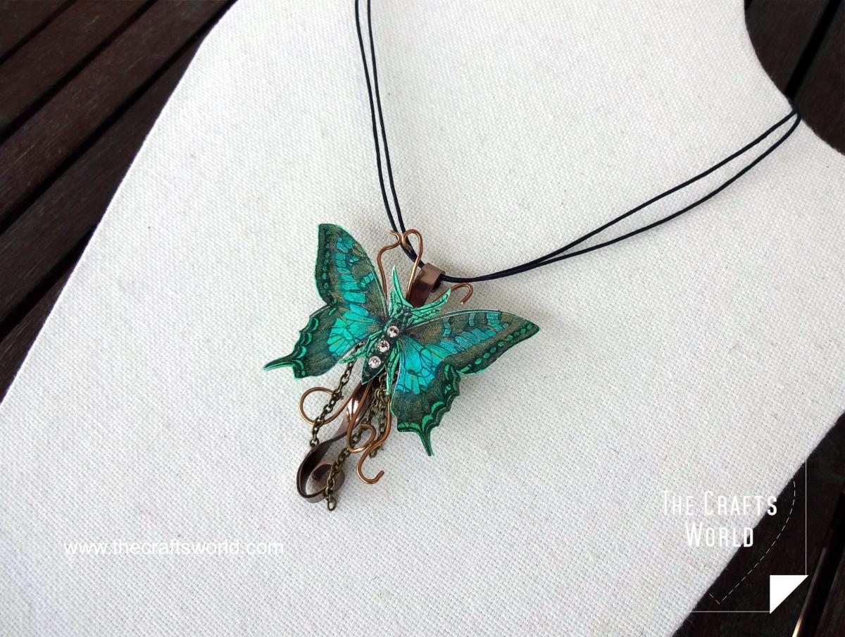 Butterfly pendant side