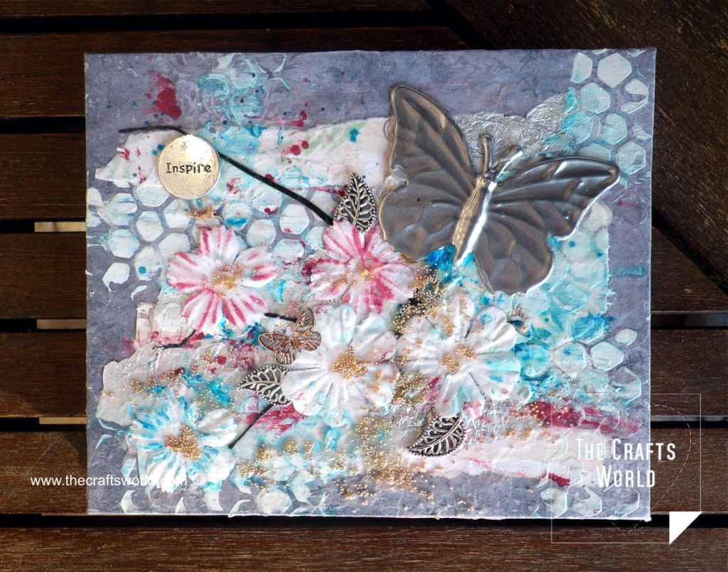 Handmade notepad Butterflies