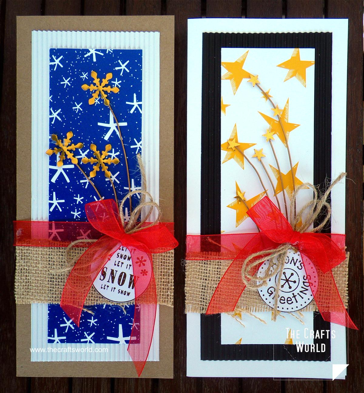Handmade Christmas cards - skinny