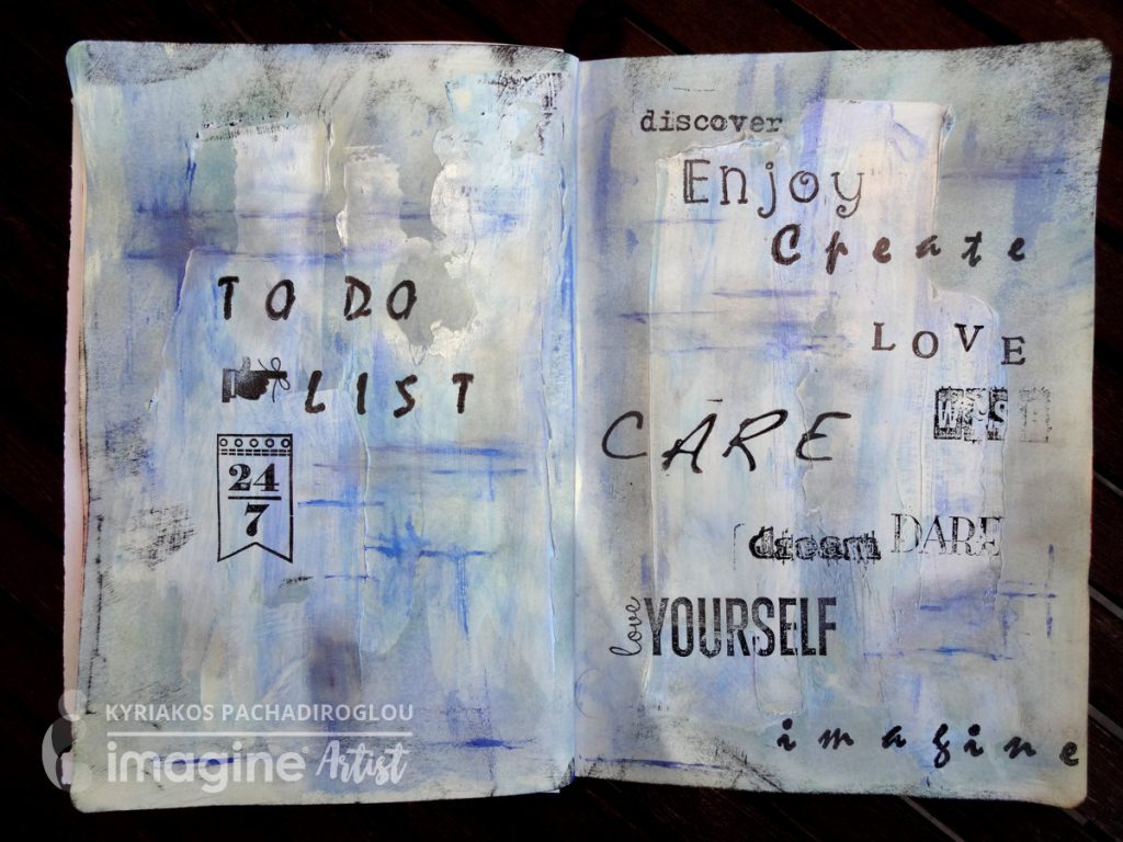 Art journal page - To Do List