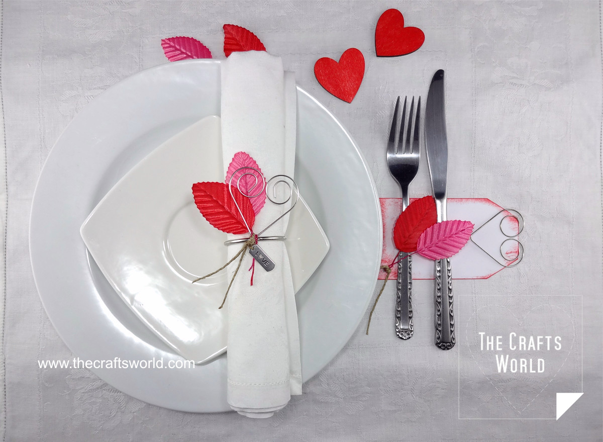 Valentine's day table decoration