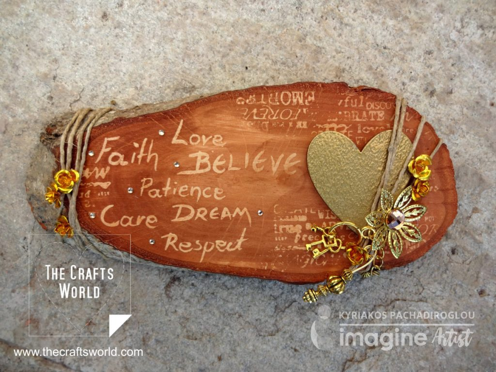 Heart of gold on a bark