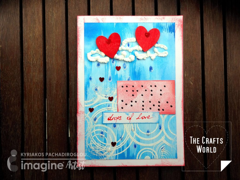 Braille greeting card - Drops of love