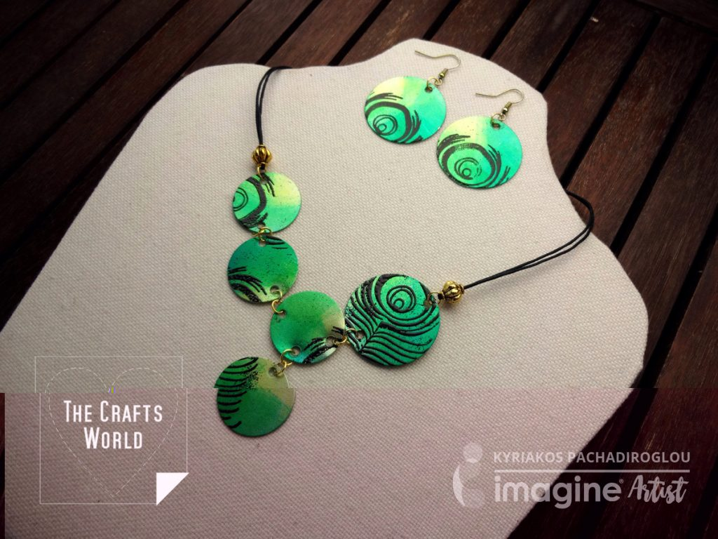 Handmade Necklace - Peacock feathers