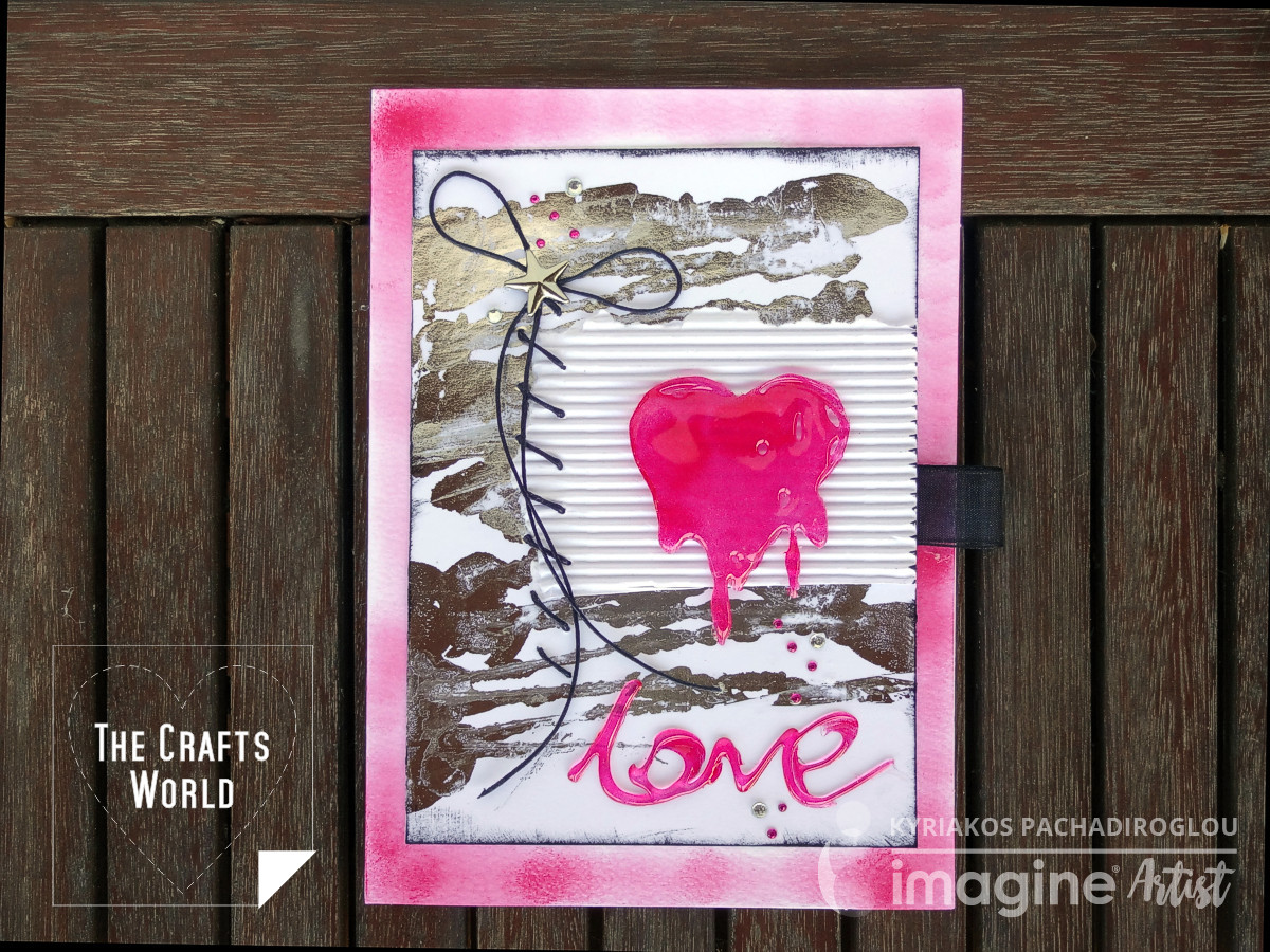 Melting in love heart card