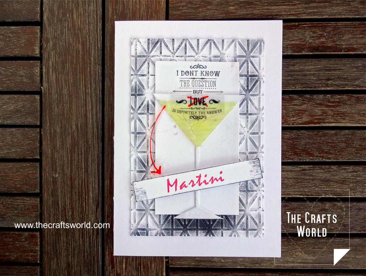 Martini is the answer handmade card