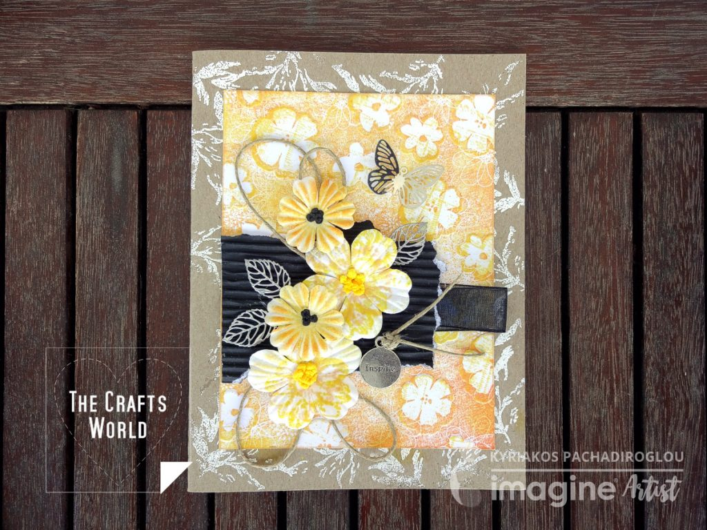 Yellow flowers handmade card