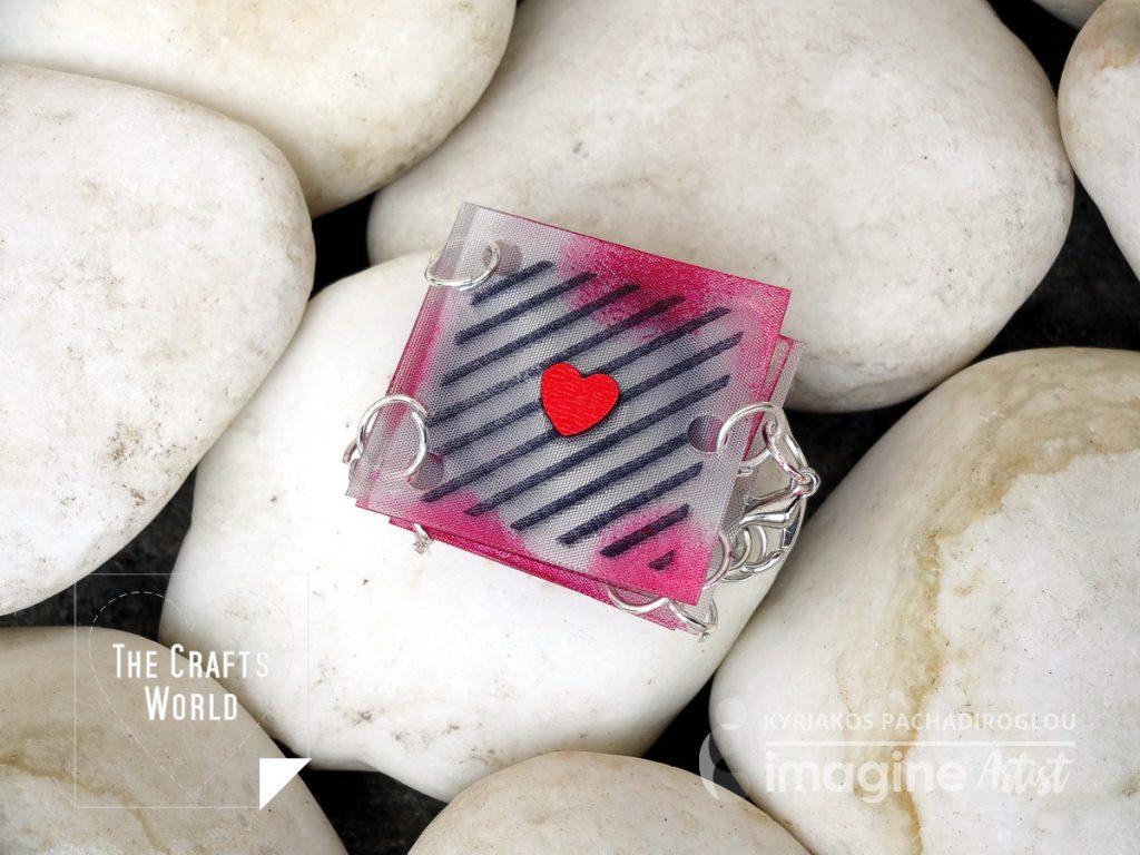 Wearable mini book bracelet